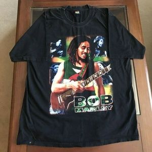 Other - Vintage Bob Marley Tshirt Double Sided XL